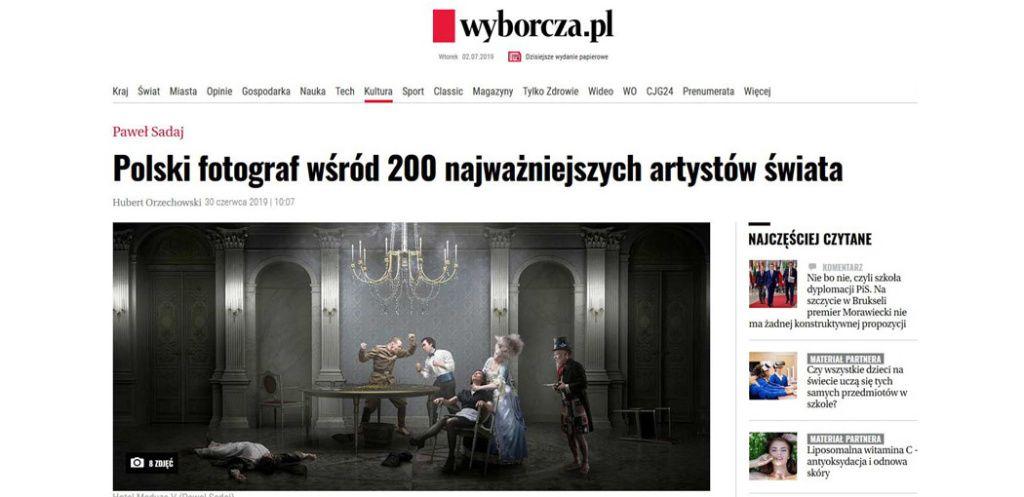 Wyborcza.pl about Paweł Sadaj | NordArt