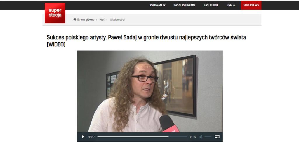 Superstacja Television about Paweł Sadaj