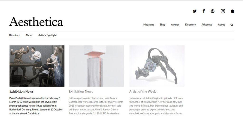 Aesthetica Magazine – Exhibition News
